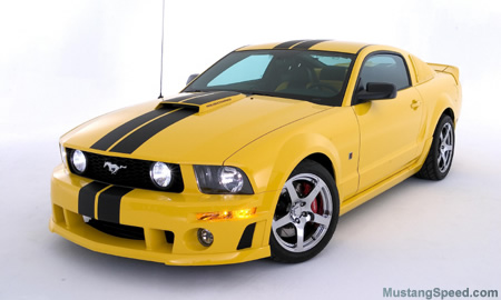 Yellow Roush Stage 3 Ford Mustang